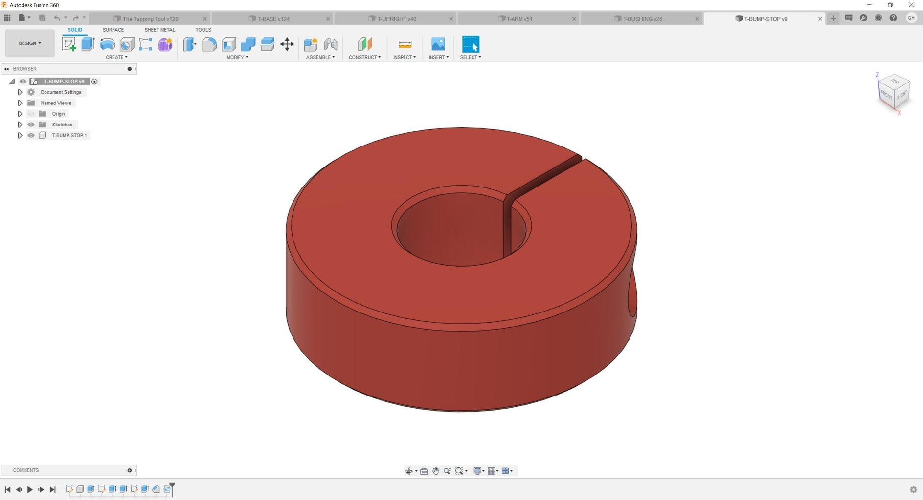 Designing the Tapping Tool.