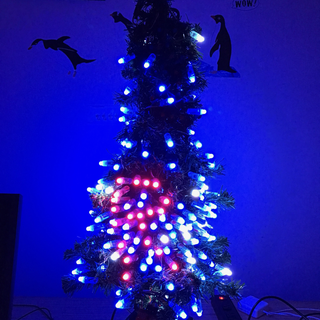 Arduino Controlled Positional RGB LED Christmas Tree