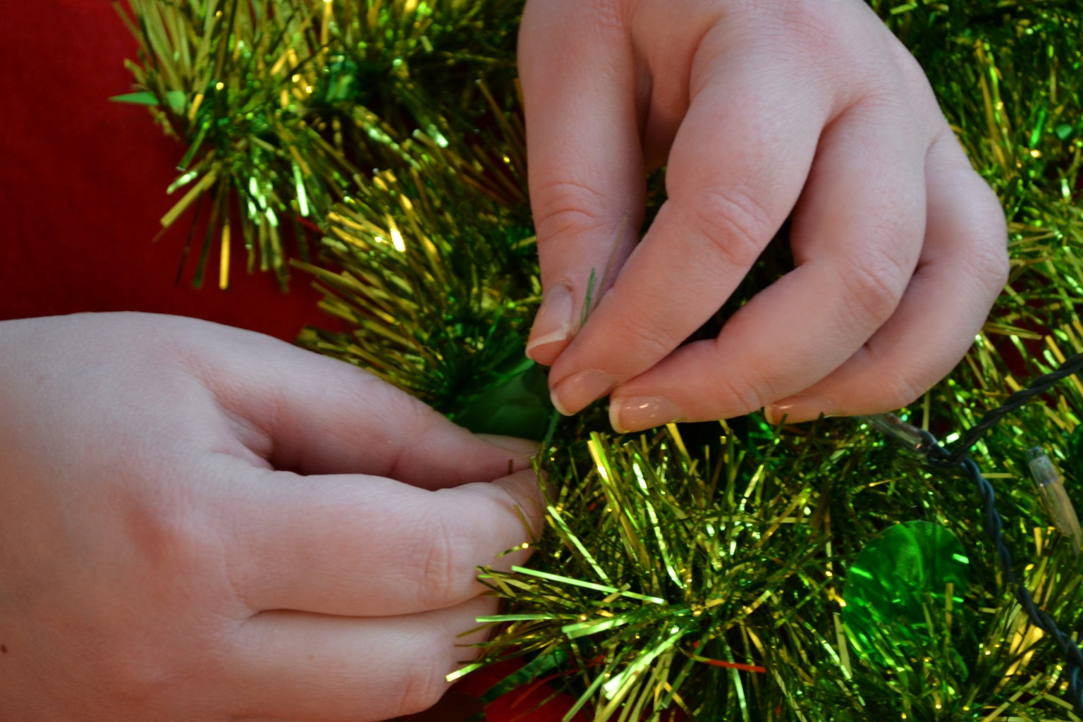 Sew Down the Garland