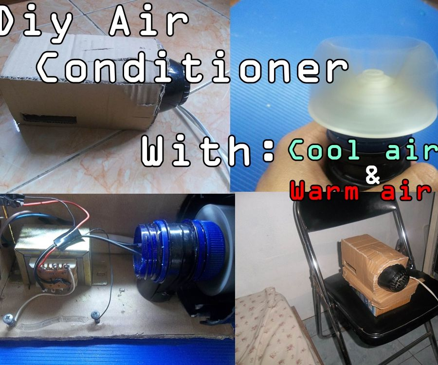 Diy Air Conditoner With Adjustable Air. Warm and Cool Air