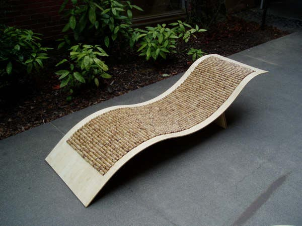 Bamboo Chaise Lounge Chair
