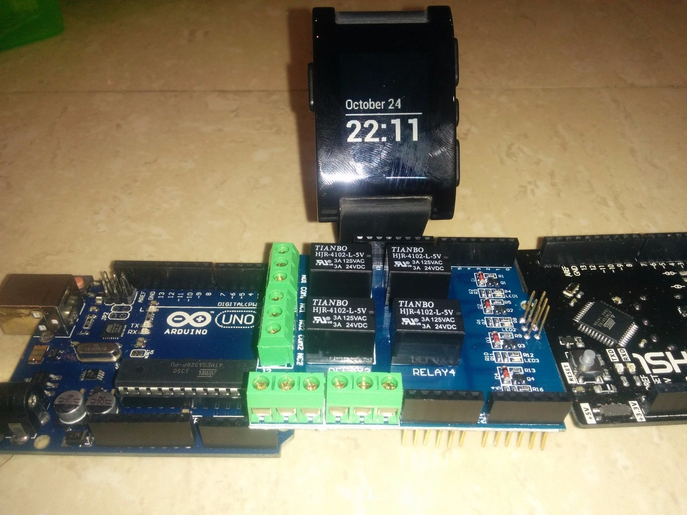 Hacking Any Car With the Pebble Watch and 1Sheeld