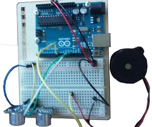 SIMPLE ARDUINO ULTRASONIC SENSOR DOOR ALARM / Motion Detector NO PIR !!!!
