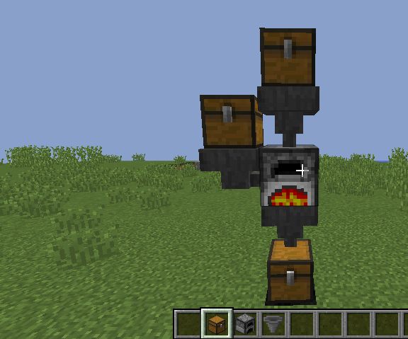 Fully Automatic Minecraft Furnace.