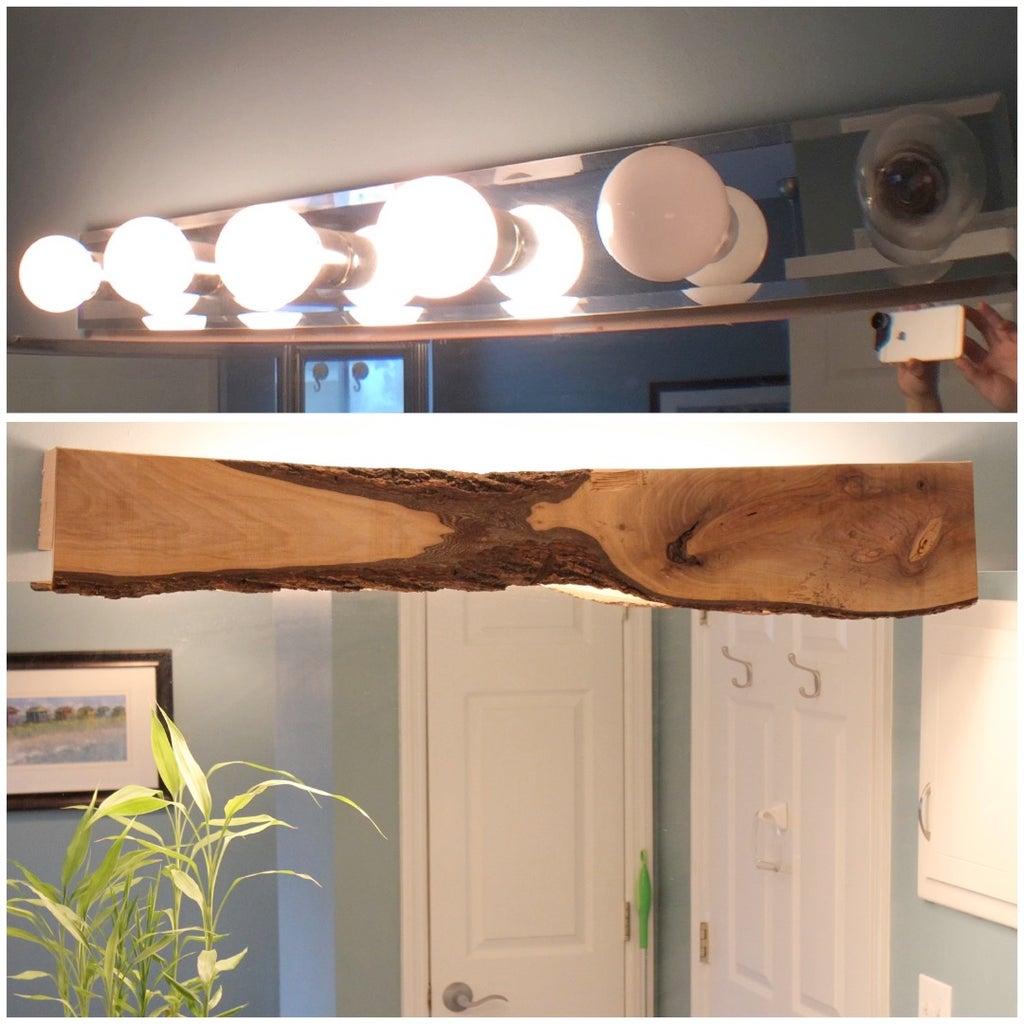 Wood Cover for Bathroom Light