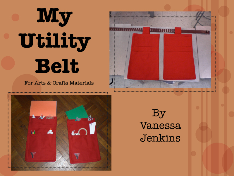 Utility Belt for Arts and Crafts Materials