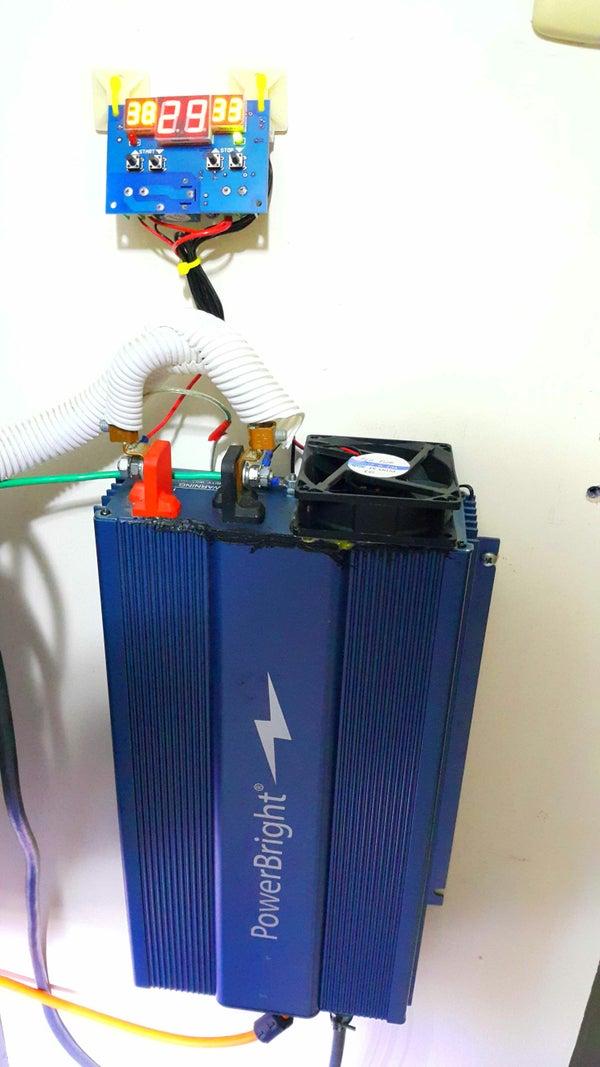 External Temperature Controller for an Inverter.