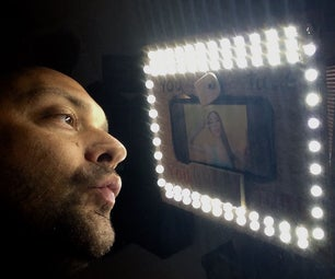 IPhone Selfie Beauty Lamp or Ring Light / IPhone自拍美容燈/環形光- We Love INSTRUCTABLES!
