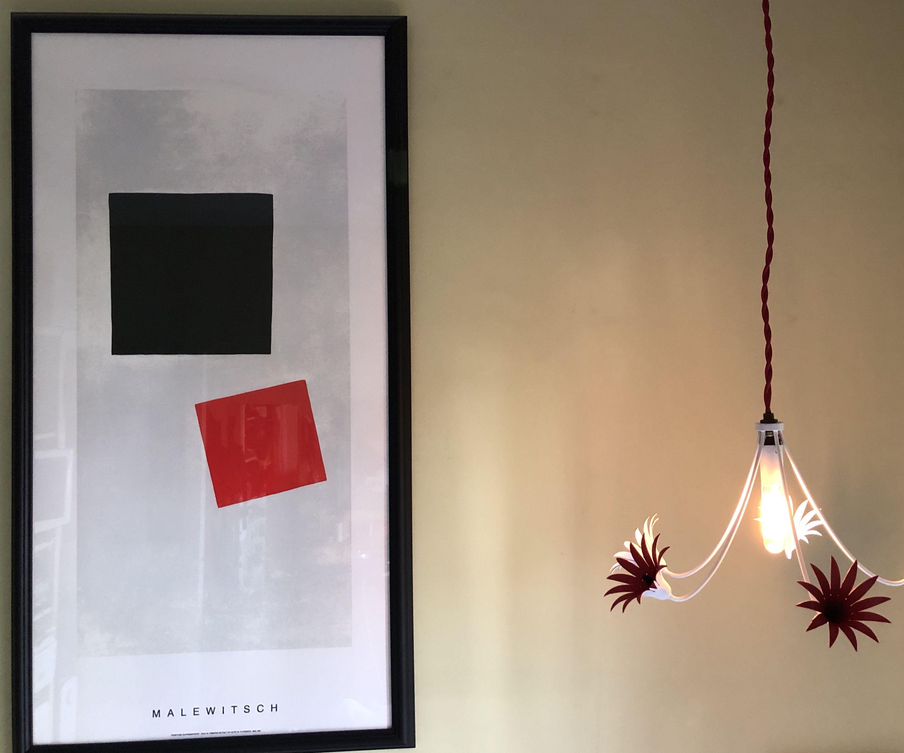 Sweet Little Metal Floral Chandelier Lamp Light