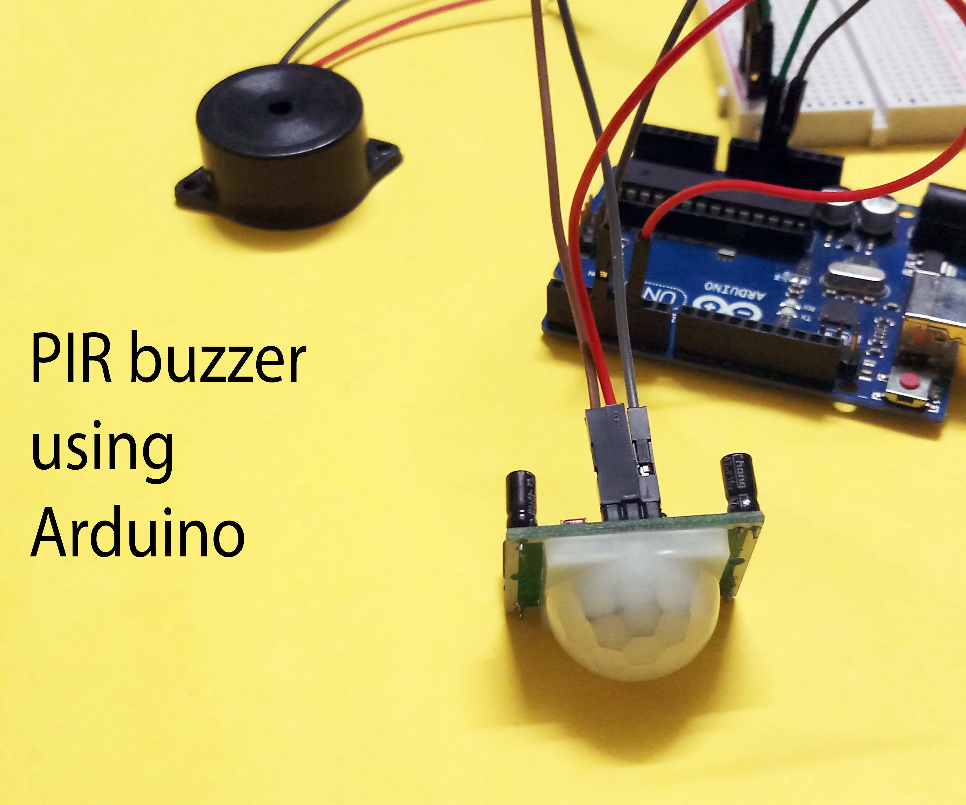 Arduino PIR Motion Sensor - Security System
