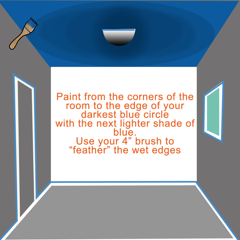 2) Paint Your Ceiling