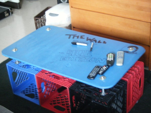 How to Build a Milkcrate Coffee Table