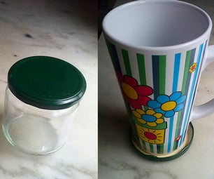 Using Jar Lid As Drink Coaster (The 3 R's Collection)