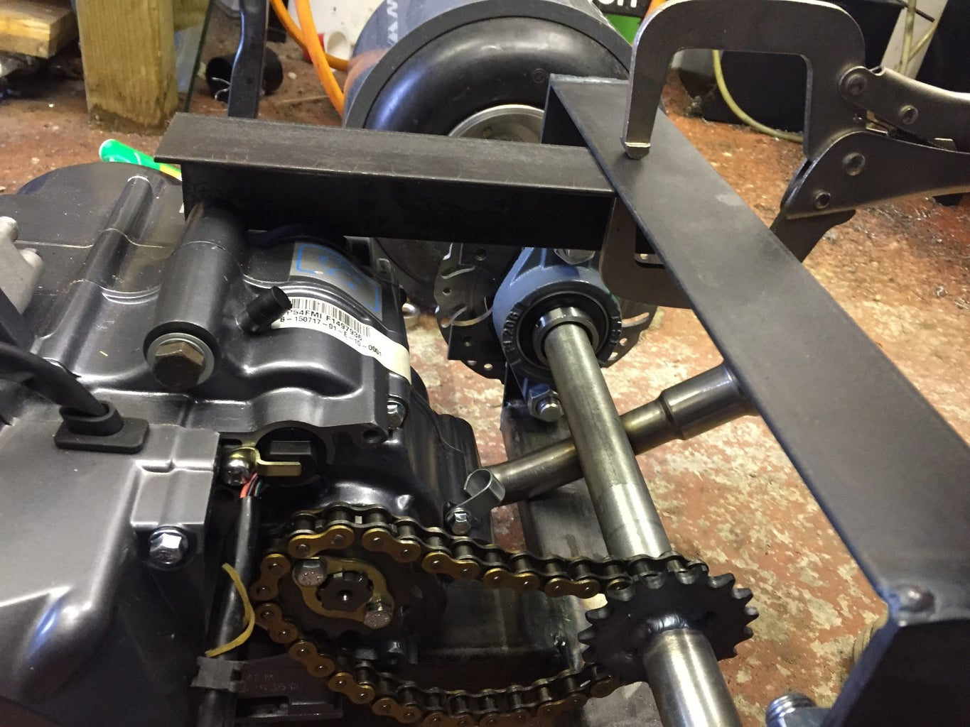 Mount the Seat and Exhaust Mount
