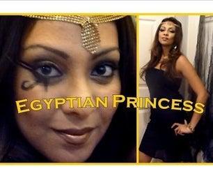 Egyptian Princess Makeup Tutorial and DIY Costume