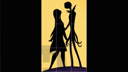 Drawing the Jack & Sally Silhouette