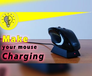 如何制作鼠标充电基座
