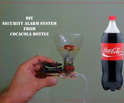 Security ALARM From CocaCola Bottle || DIY