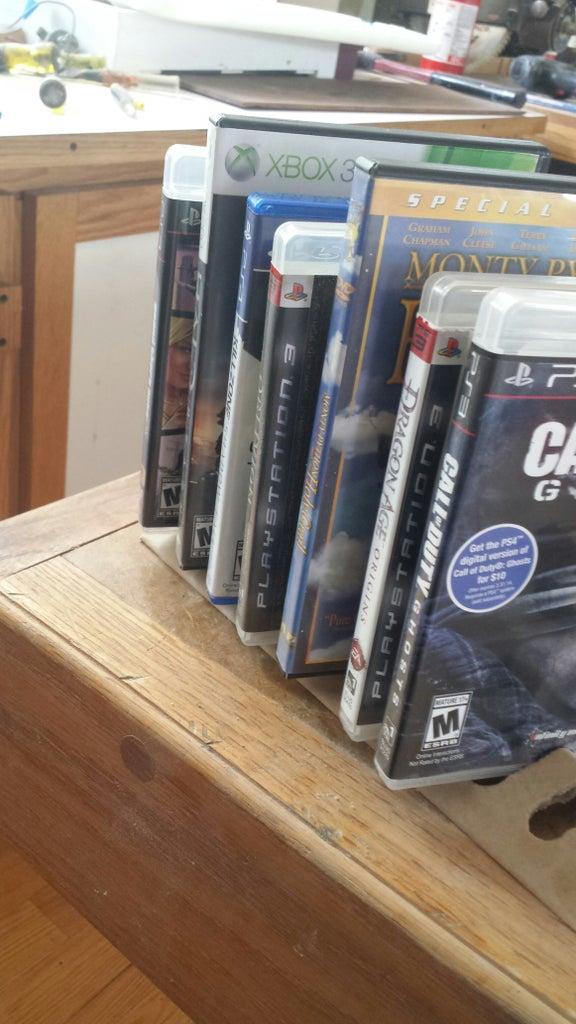 The Holding Platform of Video Game Cases (Cardboard)