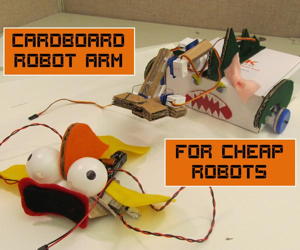 Cardboard Robot Arm for Cheap Robots