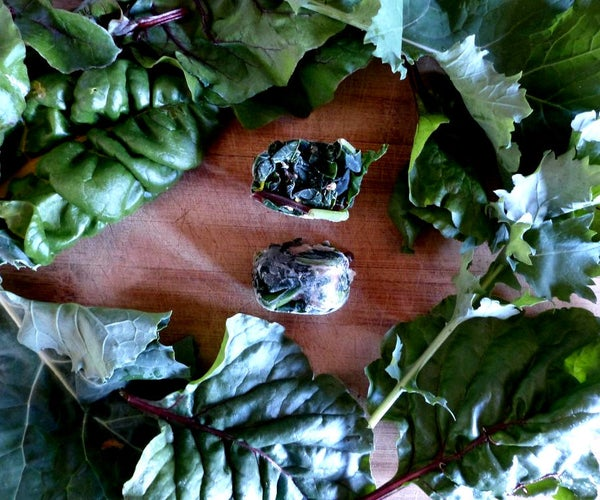 Freeze Garden Greens in Ice-cube Trays