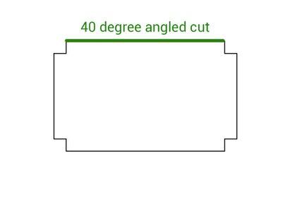 Angled Cut at the Edge.