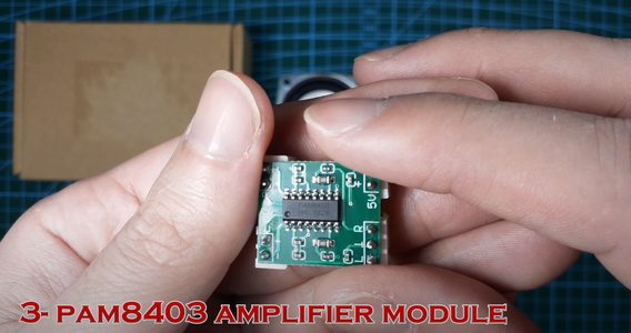 Connecting Speaker and PAM8403
