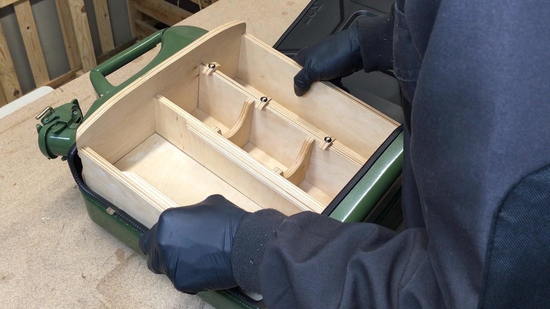 Glueing Shelf in Place