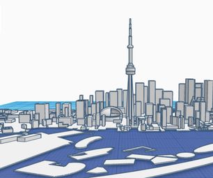 How to 3D Design a Model of the Toronto City Skyline in TinkerCAD: Scene