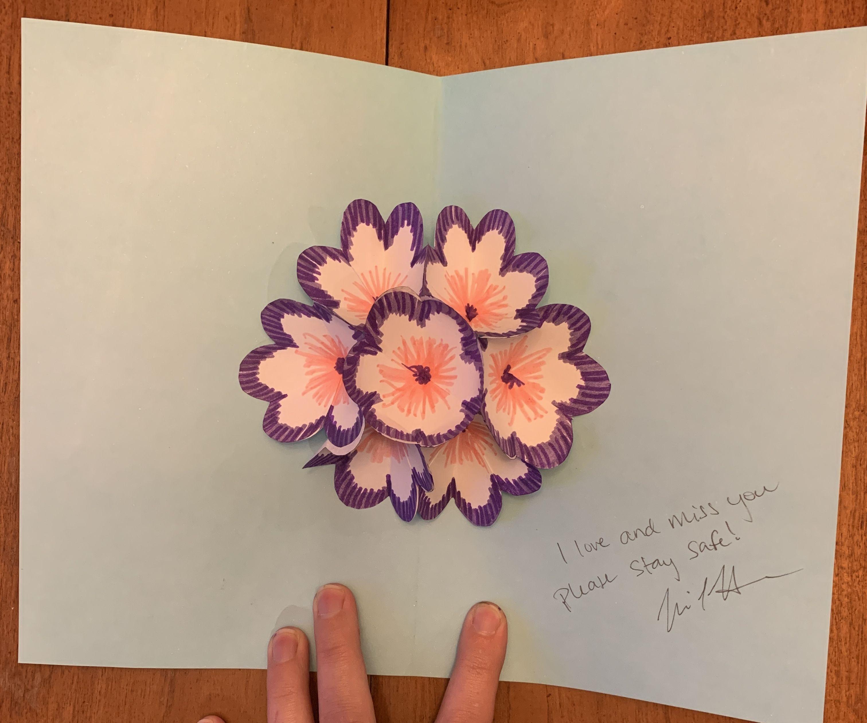 Pop-up Bouquet Homemade Greeting Card