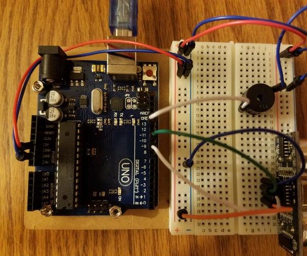 Student Proximity Sensor- Ultrasonic Sensor and Piezo Buzzer