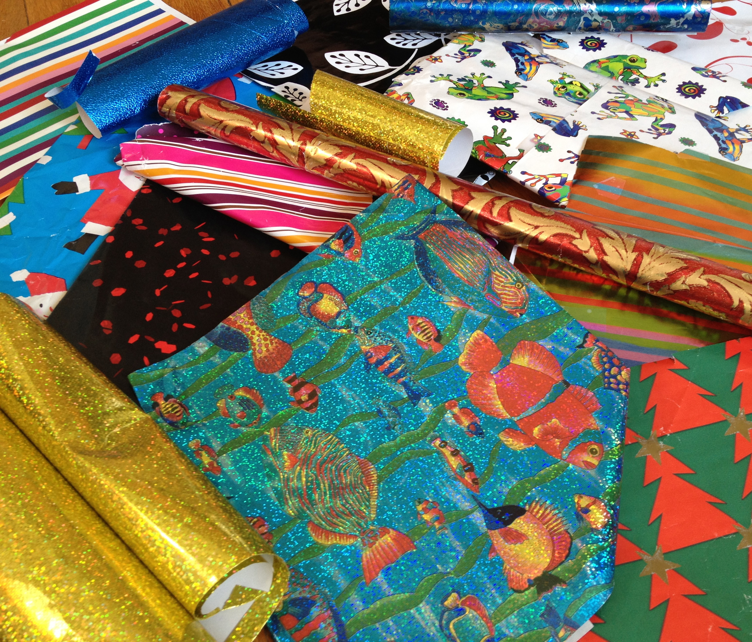 Ten uses for used wrapping paper
