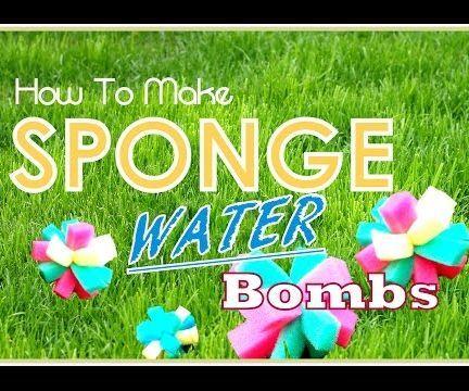 DIY Water Bombs (using Sponges)