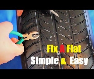 How to Fix a Flat Tire Simple & Easy & Cheap!