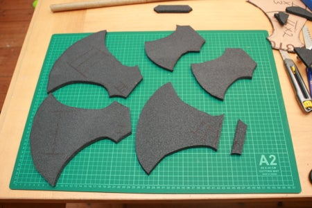 Marking and Cutting the Foam