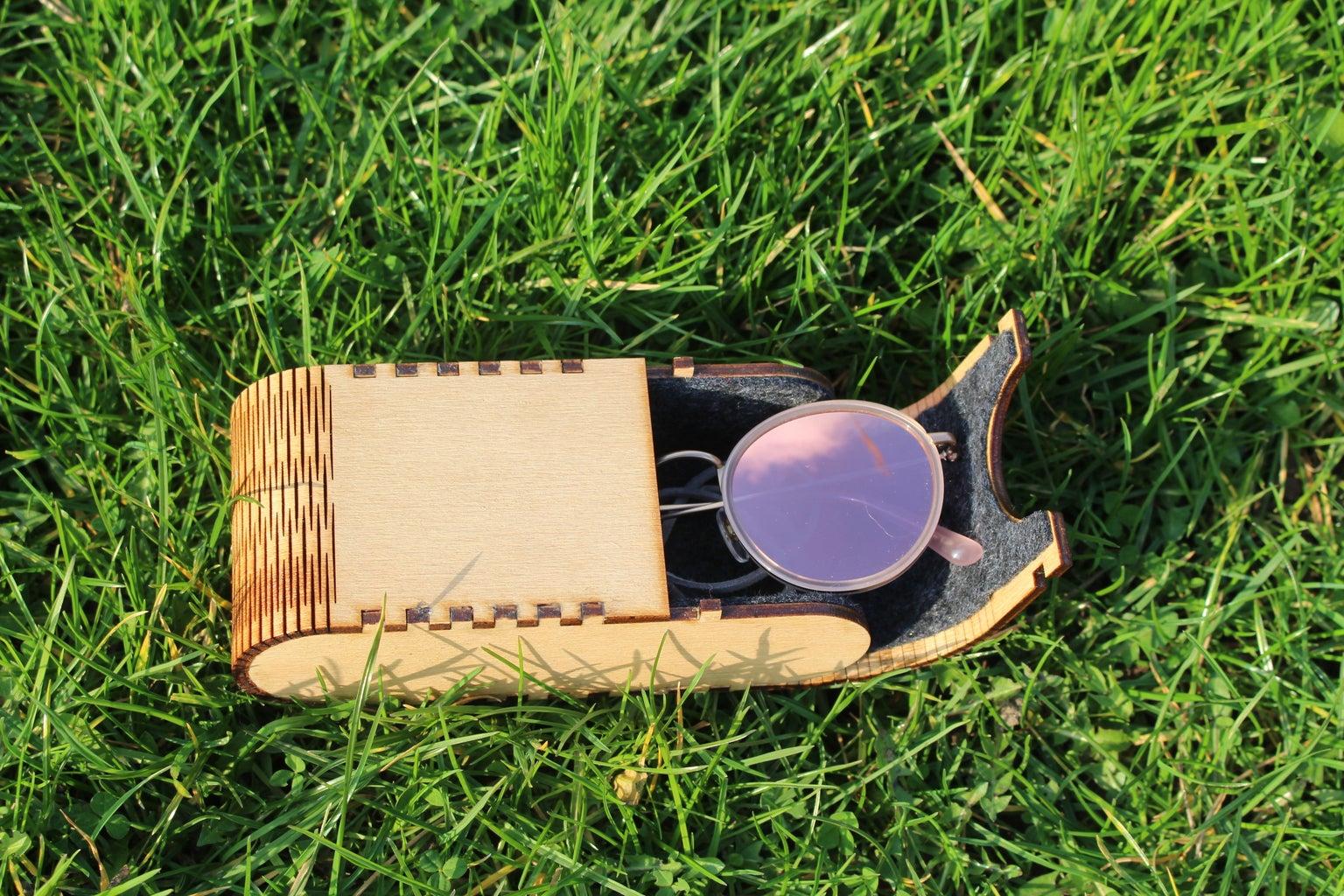 Laser Cut Glasses Case