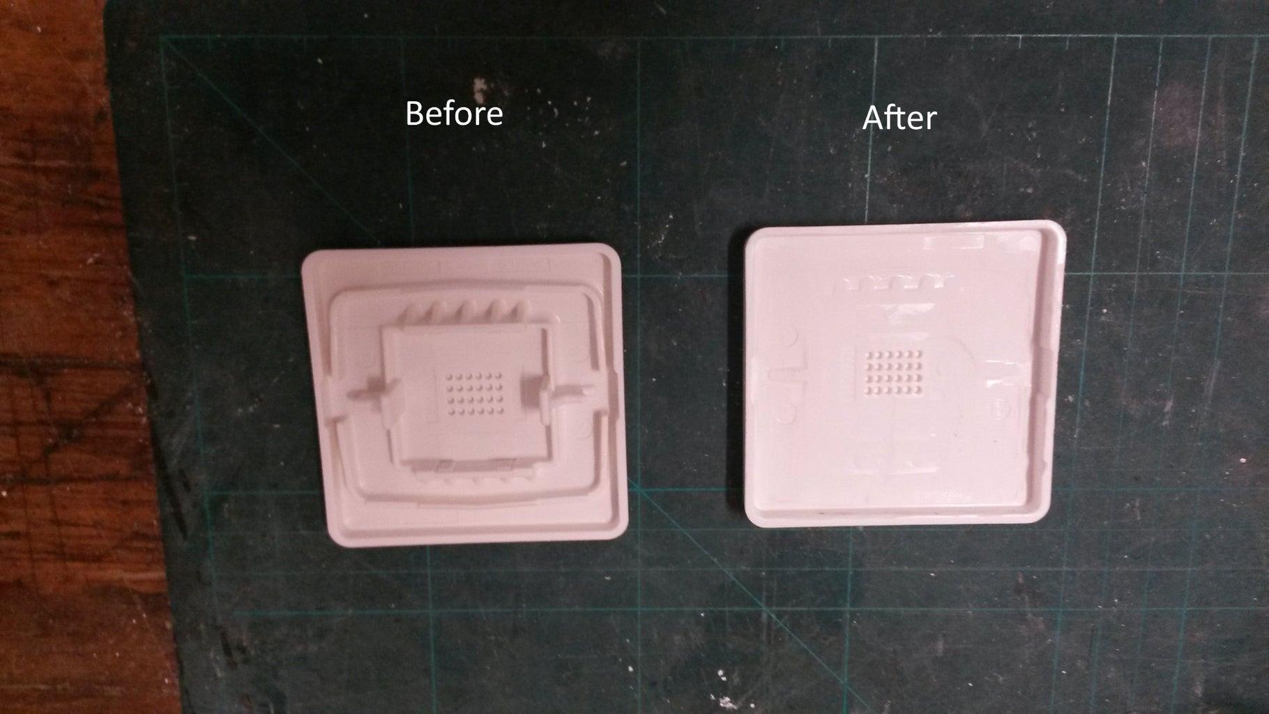 Schalter-Abdeckplatte Vorbereiten