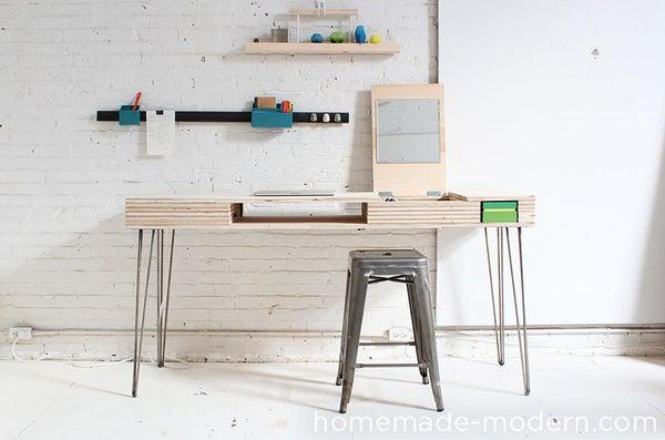 HomeMade Modern DIY Flip Desk
