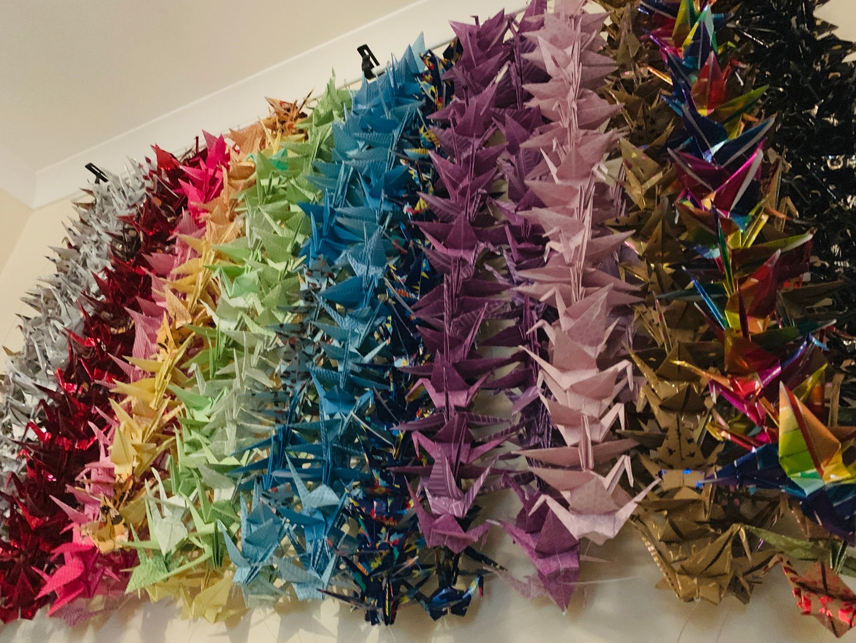 1000 Paper Crane Wall