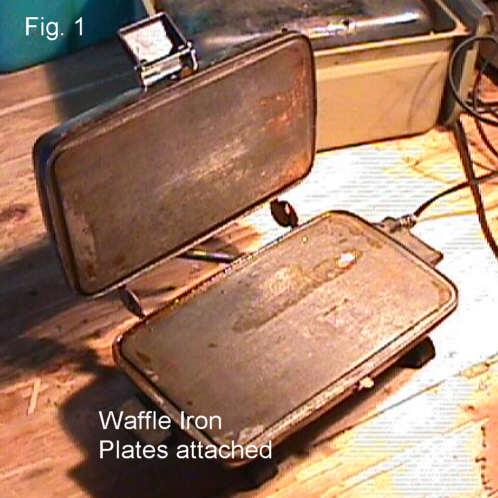 Waffle Iron Adapted Into MIni Kiln...or...The Bavarian Bead Buster!