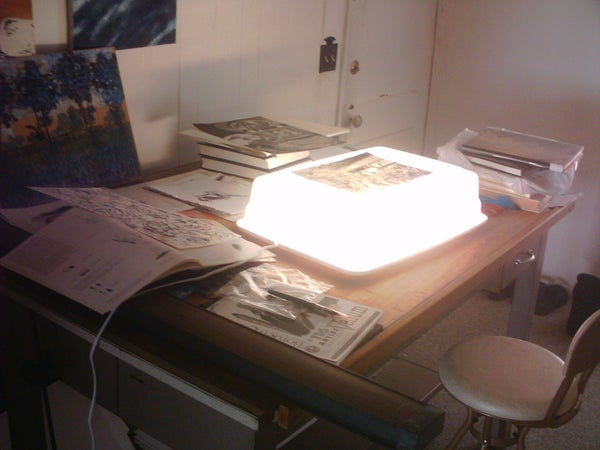 Cheap Light Box for Drawing or Inking Or...