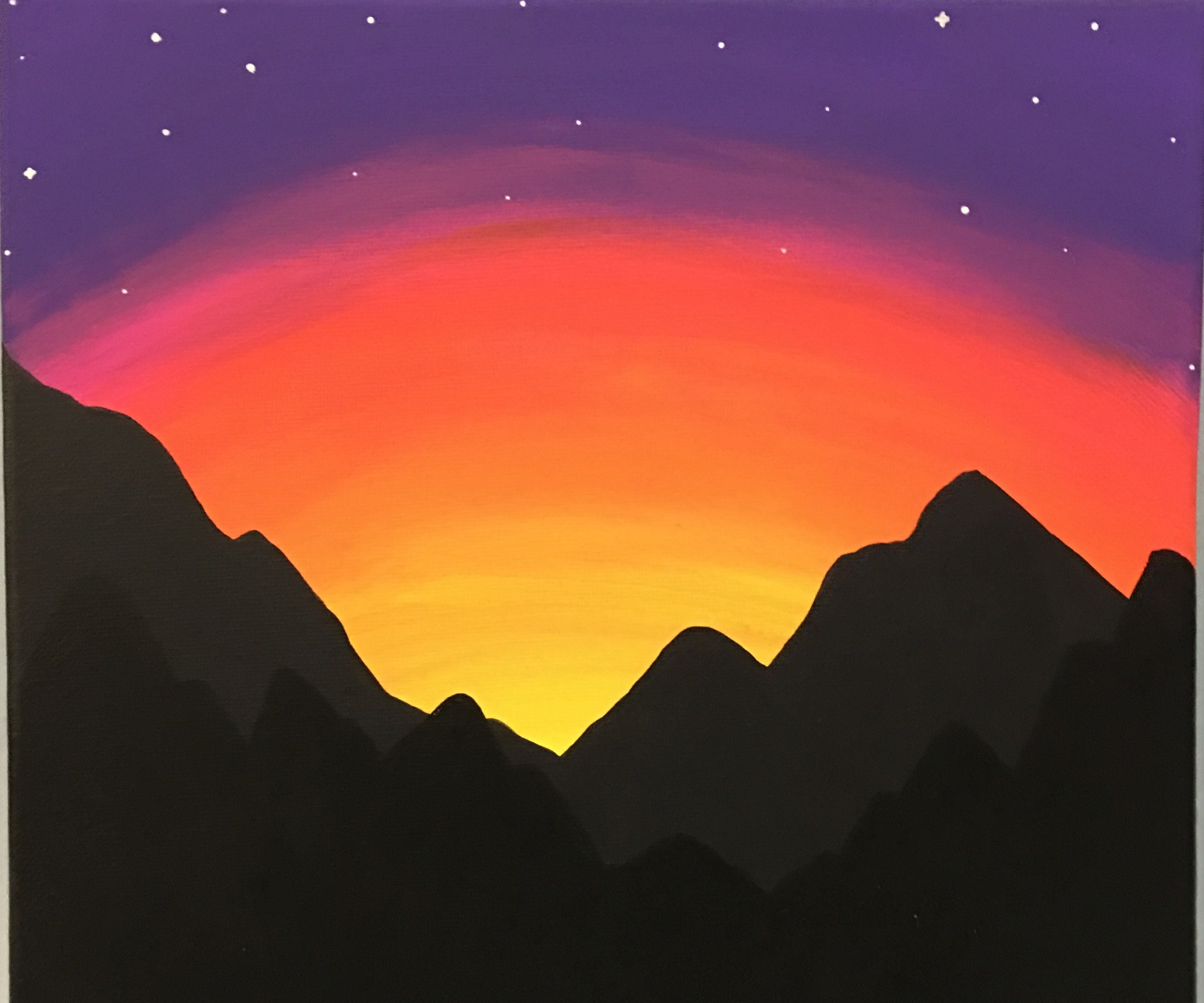 Paint a Mountain Sunset for Beginners  20 Steps with Pictures ...