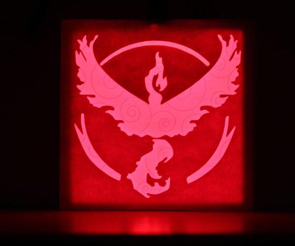 Light-Up Pokemon Team Badge