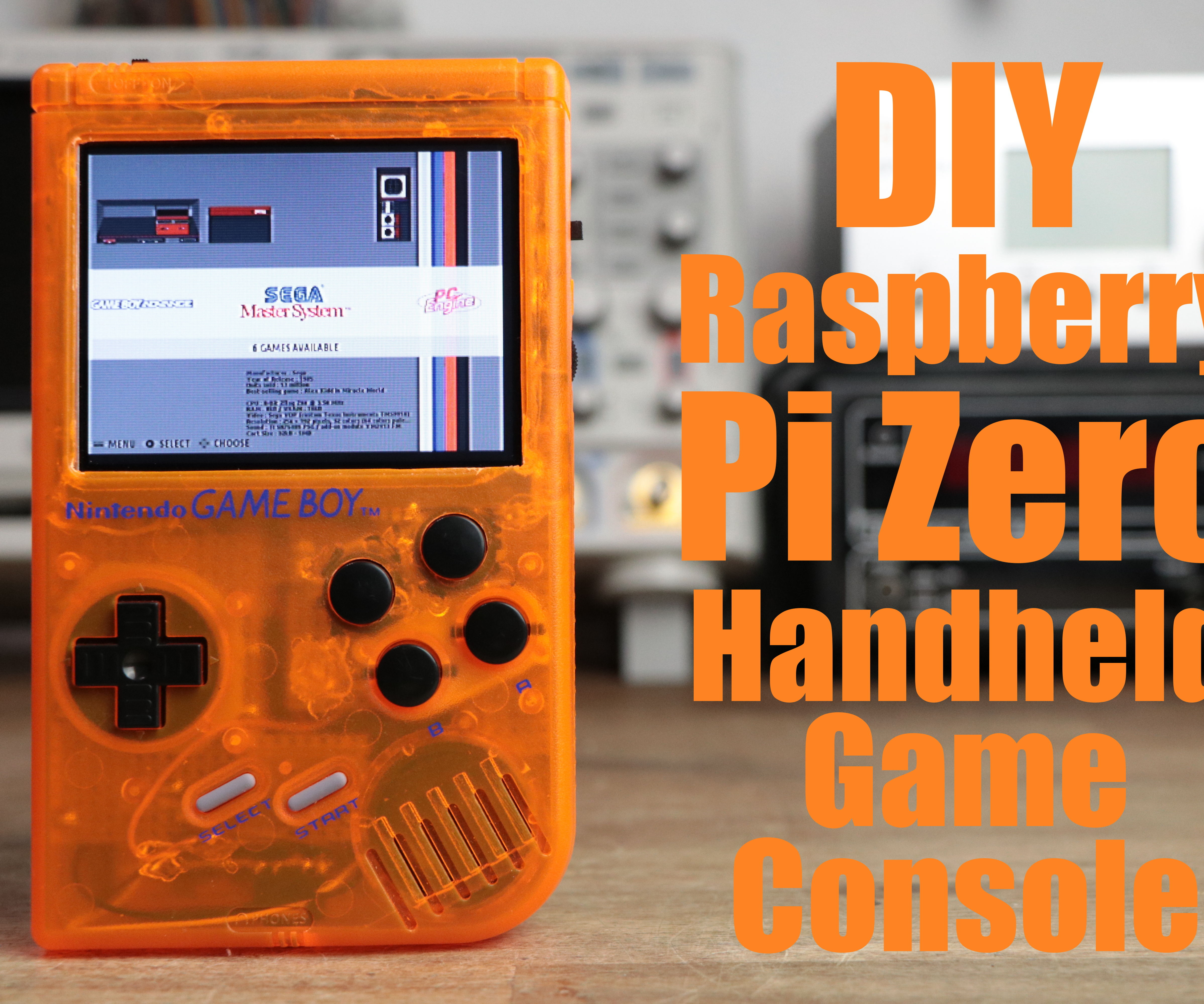 DIY Raspberry Pi Zero Handheld Game Console