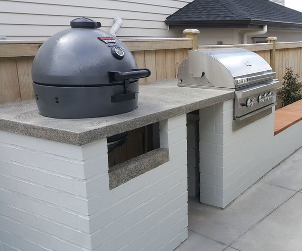 Brick and Polished Concrete BBQ Table