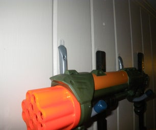 Easy Removable Dorm Nerf Blaster Rack!