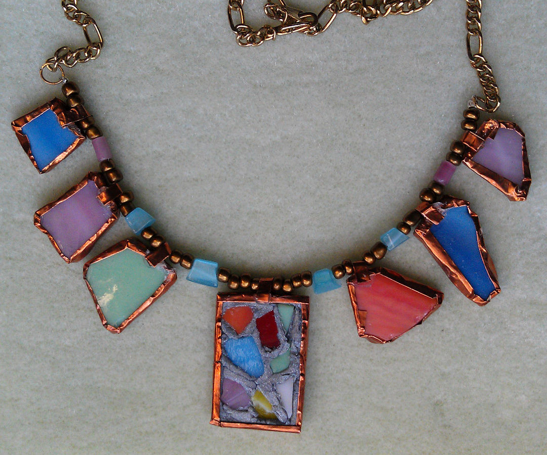 Stained Glass Necklace – No Soldering!