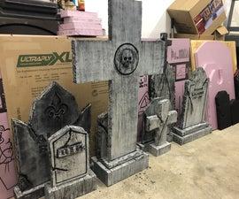 Halloween Foam Tombstones