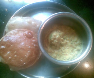 Dal Tadka and Poori (Fried Indian Bread)-South Indian Style With Custom Twist!