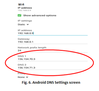 Changing DNS Settings for Wifi Networks on Android and Apple Mobile Devices